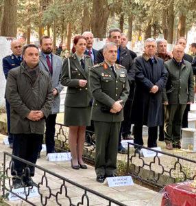 Ο Σταύρος Κελέτσης στο Τρισάγιο υπέρ ανάπαυσης των ψυχών των ηρωικώς πεσόντων στην Αλεξανδρούπολη