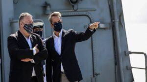 Δηλώσεις του Πρωθυπουργού Κυριάκου Μητσοτάκη και του Υπουργού Εξωτερικών των ΗΠΑ, Mike Pompeo, κατά την επίσκεψή τους στις στρατιωτικές εγκαταστάσεις της Βάσης της Σούδας