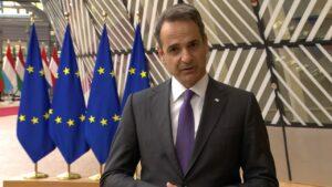 Δήλωση του Πρωθυπουργού Κυριάκου Μητσοτάκη κατά την άφιξή του στη Σύνοδο Κορυφής του Ευρωπαϊκού Συμβουλίου