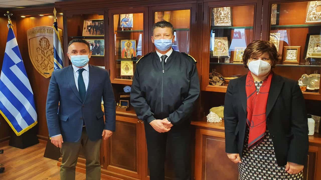 Συνεργασία Κελέτση με τη Γενική Γραμματέα Αιγαίου και τον Αρχηγό του Λιμενικού Σώματος