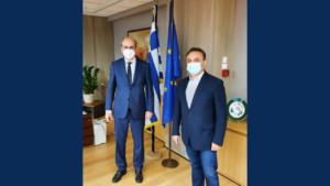 Συνεργασία Κελέτση με τον Υπουργό Εργασίας Κωστή Χατζηδάκη
